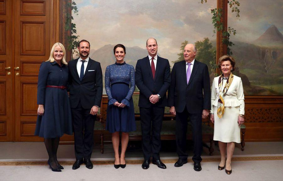Kate Middleton enceinte de son troisième enfant, le 1er février 2018.