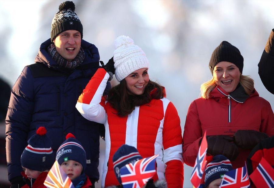 Kate Middleton enceinte de son troisième enfant, le 2 février 2018.