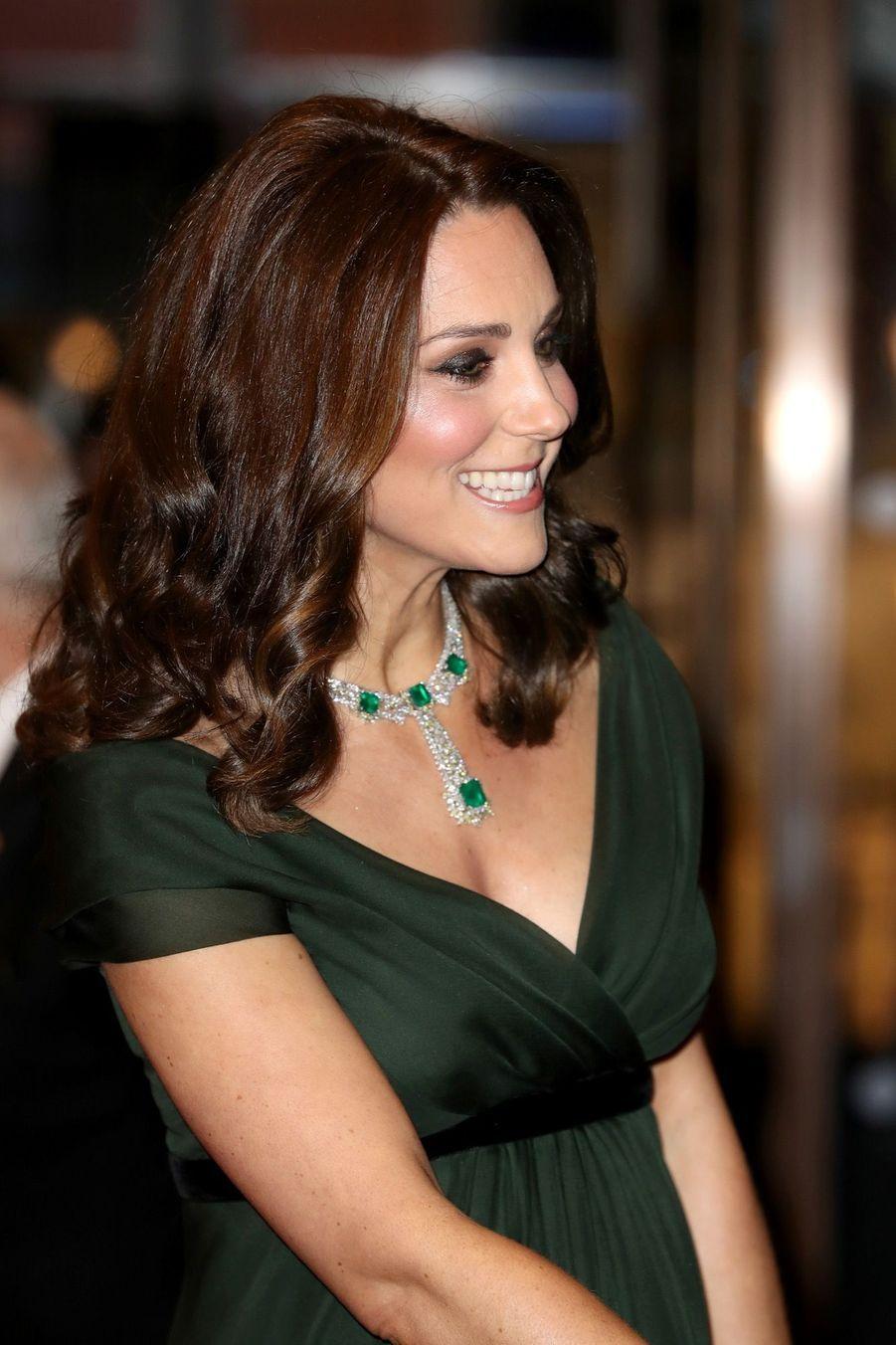 Kate Middleton enceinte de son troisième enfant, le 18 février 2018.