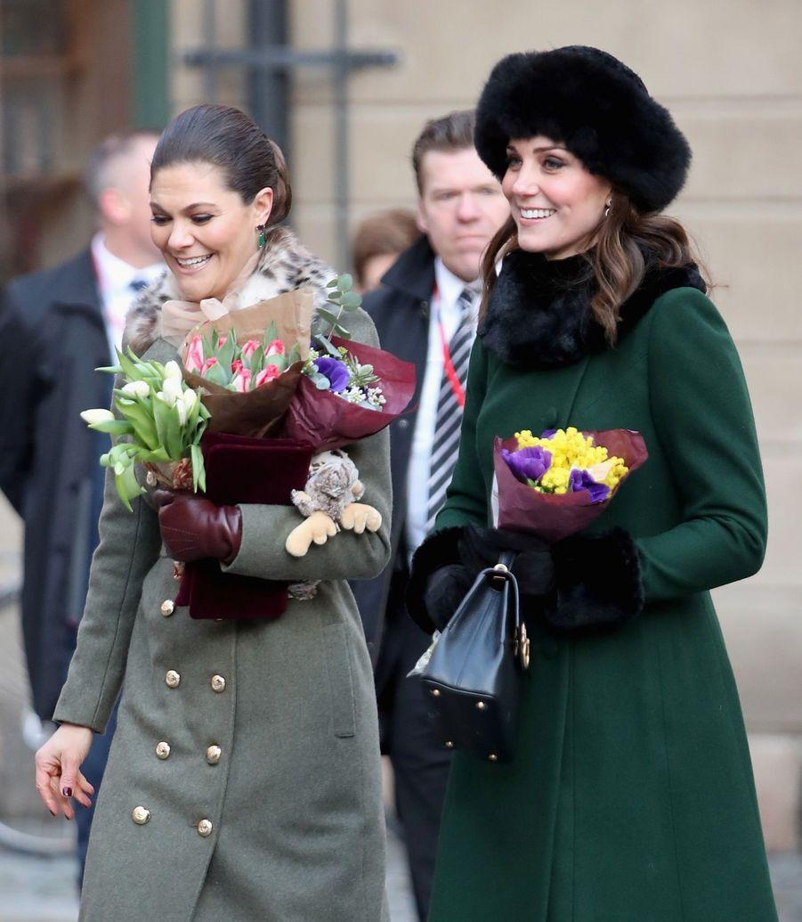 Kate Middleton Et Victoria De Suède, Les Retrouvailles 14