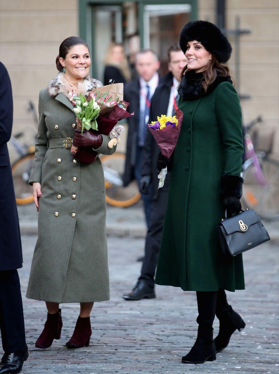 Kate Middleton Et Victoria De Suède, Les Retrouvailles 16