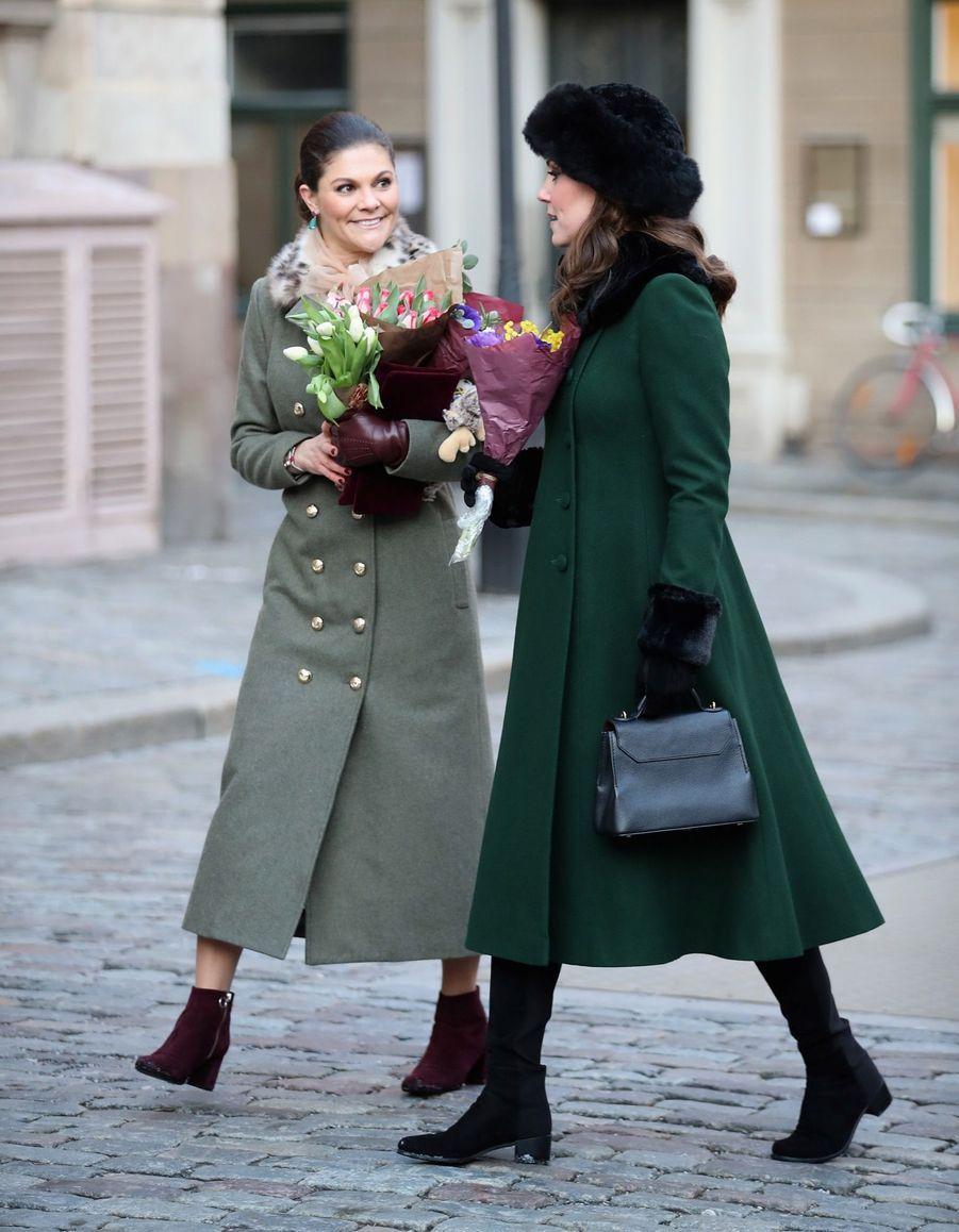 Kate Middleton Et Victoria De Suède, Les Retrouvailles 18