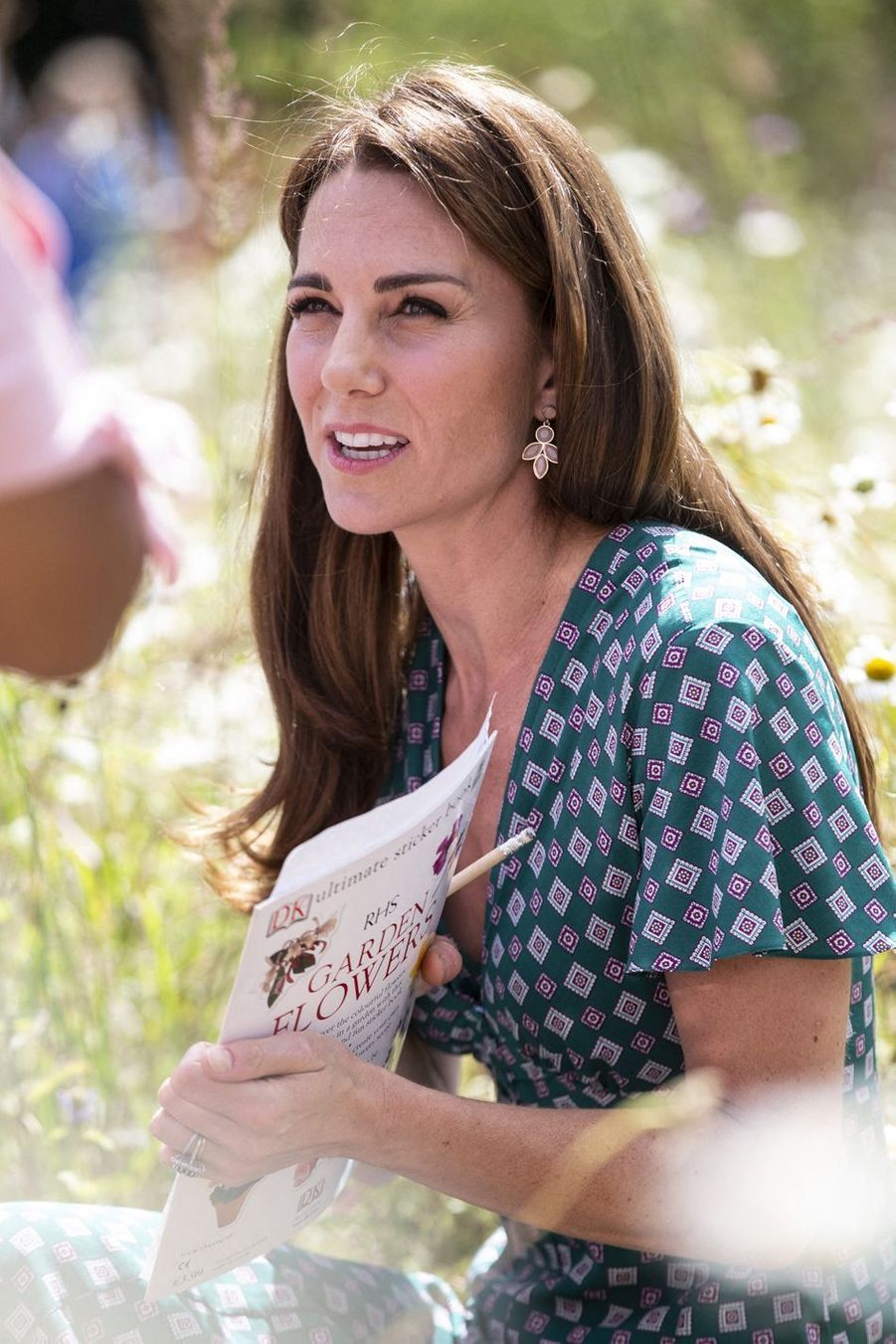 Kate Middleton à Hampton Court Palace à Londres le 1er juillet 2019