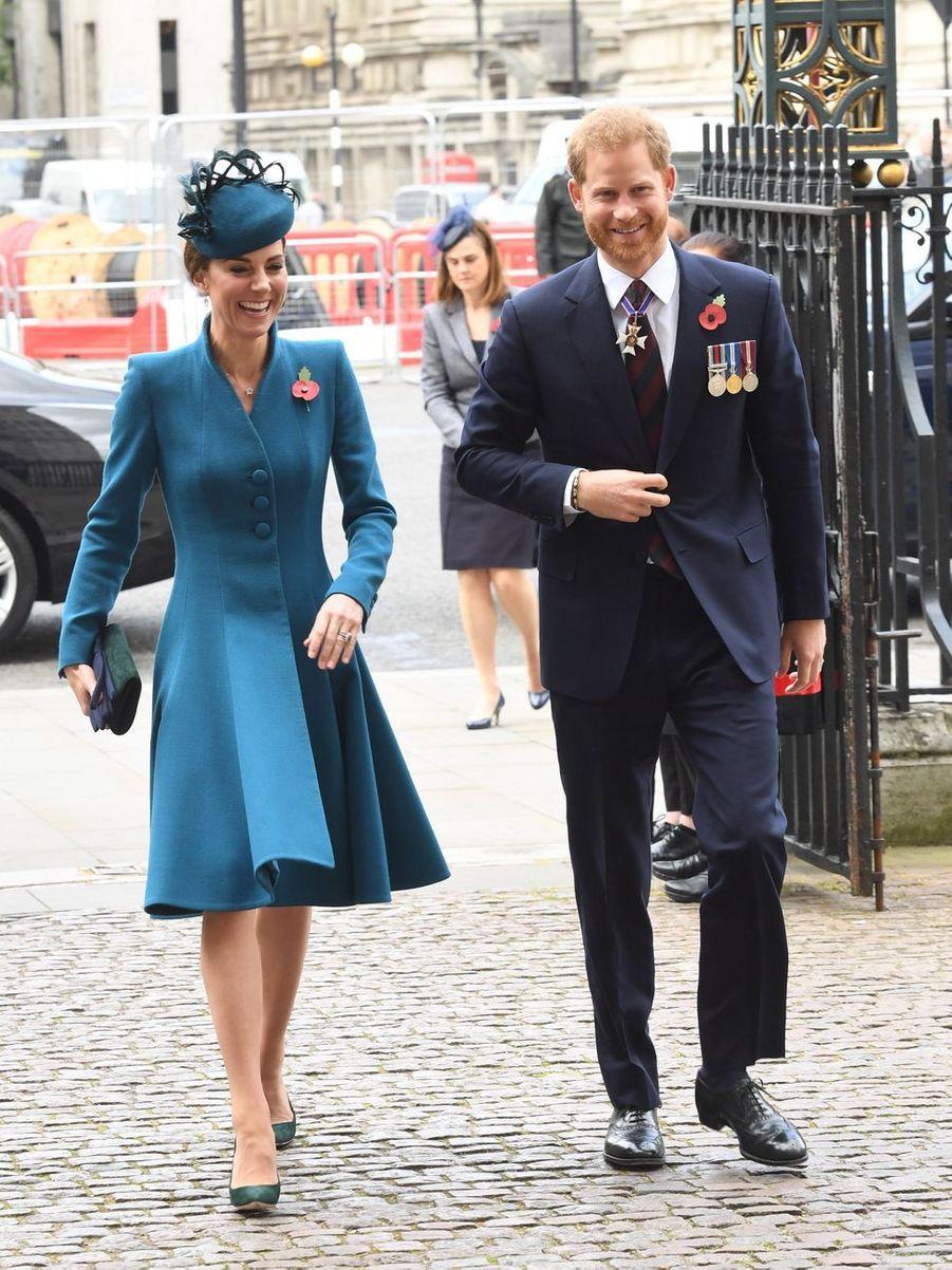 Kate Middleton et le prince Harry à Londres, le 25 avril 2019
