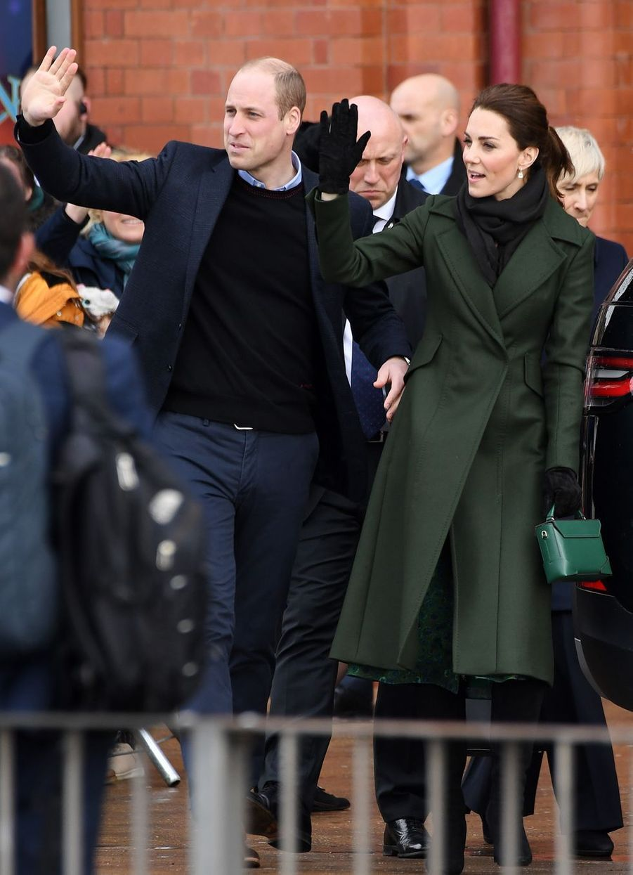 Le prince William et Kate Middleton en visite à Blackpool, le 6 mars 2019
