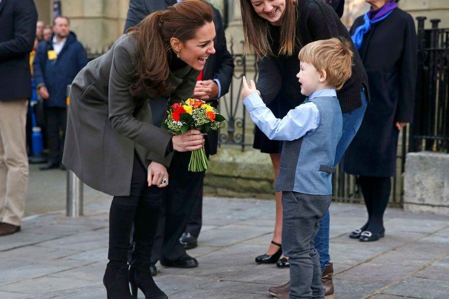 La duchesse de Cambridge Kate à Caernarfon, le 20 novembre 2015