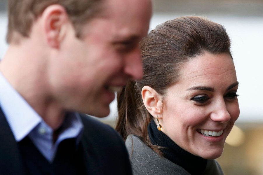 Le prince William et la duchesse de Cambridge Kate à Caernarfon, le 20 novembre 2015