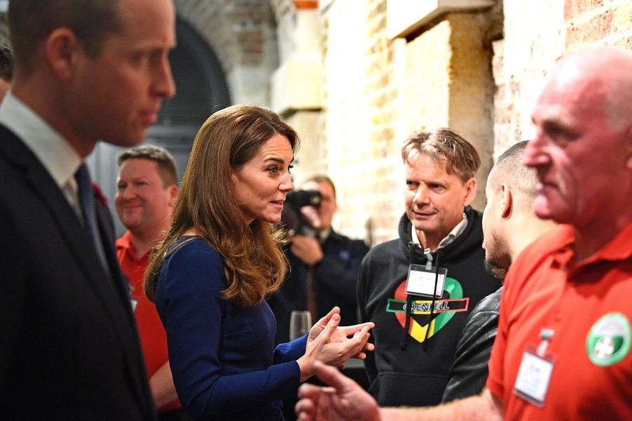 Kate Middleton et le Prince William lors de la journée du lancement de l'association National Emergencies Trust à l'église St Martin-in-the-Fields à Londres, le jeudi 7 novembre.
