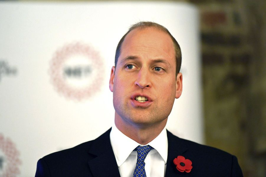 Prince William lors de la journée du lancement de l'association National Emergencies Trust à l'église St Martin-in-the-Fields à Londres, le jeudi 7 novembre.
