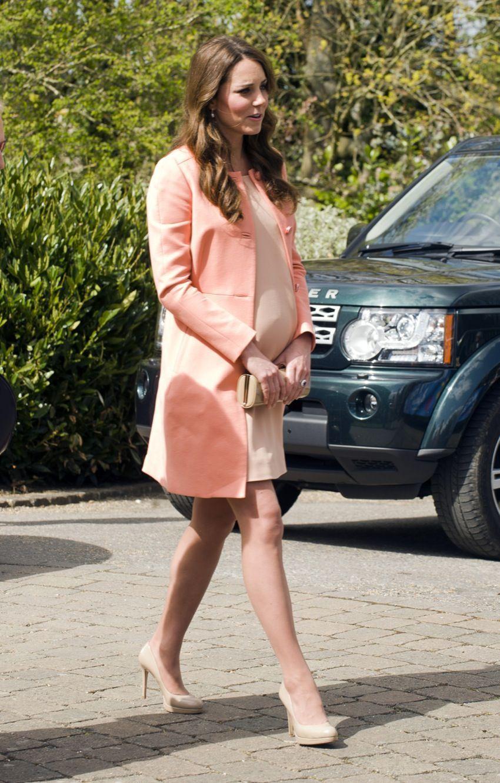 Kate enceinte en avril 2013