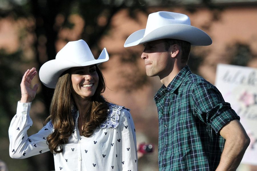 Kate et William, à Calgary, au Canada en juillet 2011