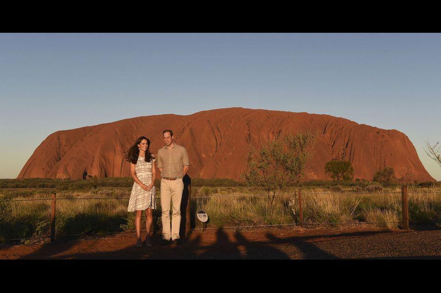 Kate et William en Australie, le 23 avril 2014
