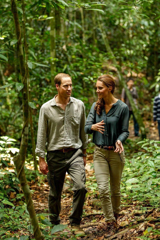 Kate et William en visite en Malaisie, en septembre 2012