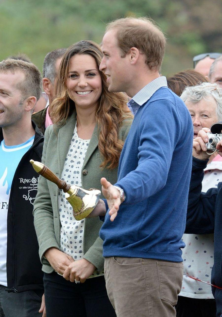 Kate et William, font leur adieux à l'île d'Anglesey, en août 2013
