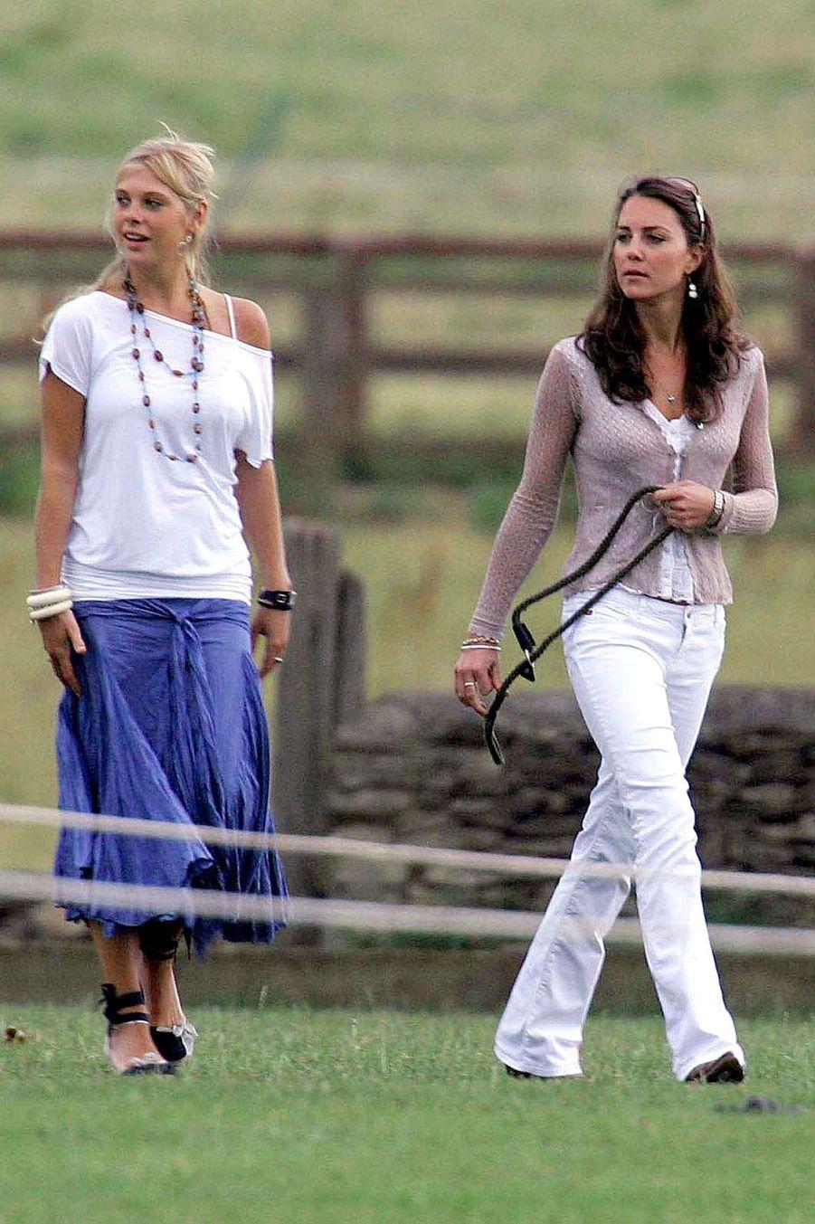 Kate Middleton et Chelsy Davy, l'ex du prince Harry, en juillet 2006