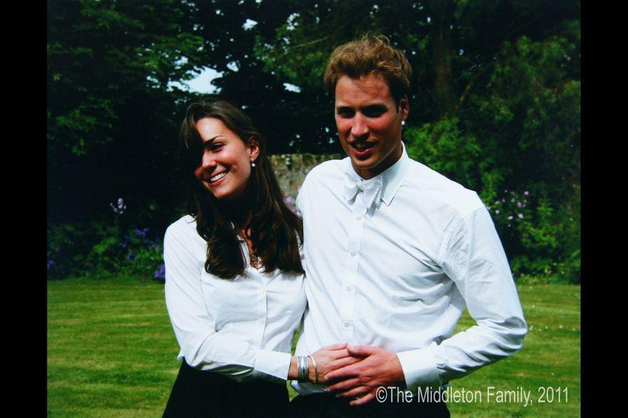 Kate Middleton et le prince William, lors de la remise de diplôme de St Andrew's en 2005