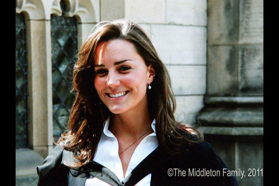 Kate Middleton lors de la remise de diplôme de St Andrew's, en 2005