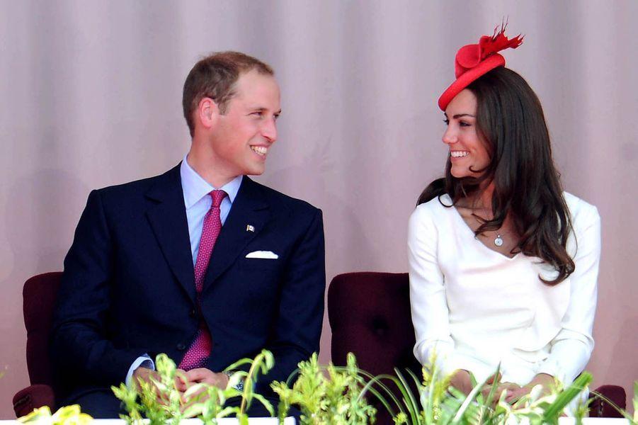 Le premier voyage de Kate et William, le 1er juillet 2011 au Canada