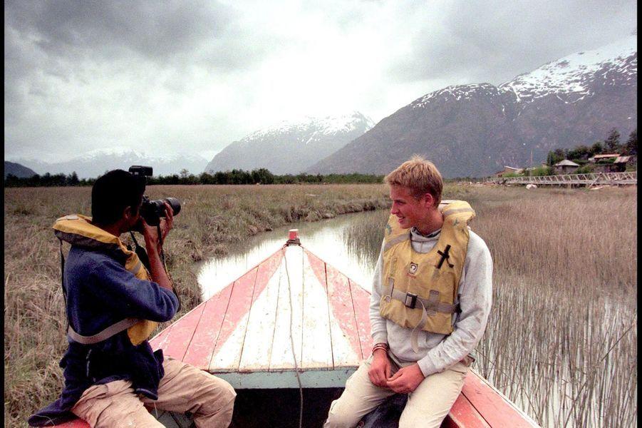 Le prince William, lors de son voyage au Chili en 2000