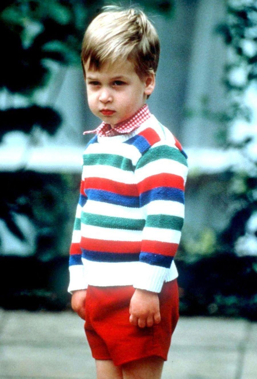 Le prince William, premier jour d'école maternelle, 24 septembre 1985.