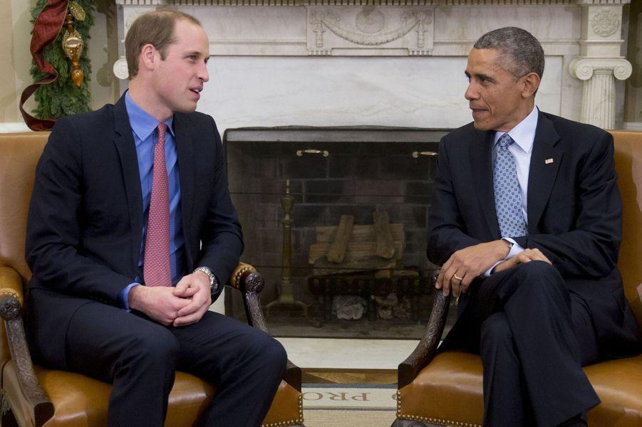 Le prince William rencontre Barack Obama à la Maison Blanche, le 8 décembre 2014