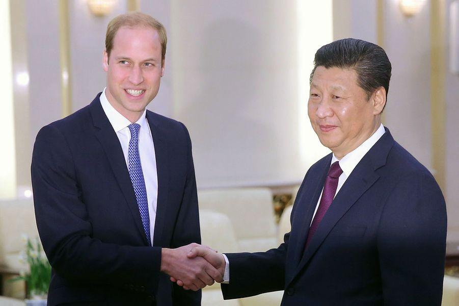 Le prince William rencontre le président chinois Xi Jinping, le 2 mars 2015