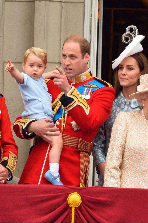 William, George et Kate au Trooping the Colour de juin 2015