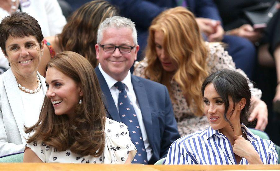 Kate Et Meghan Réunies À Wimbledon Pour La Finale Dames ( 15