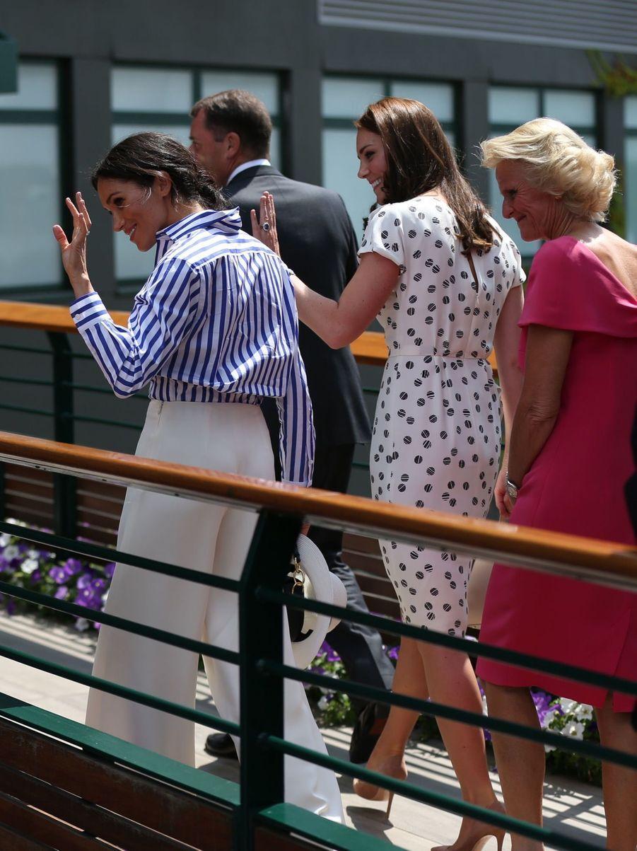 Kate Et Meghan Réunies À Wimbledon Pour La Finale Dames ( 3
