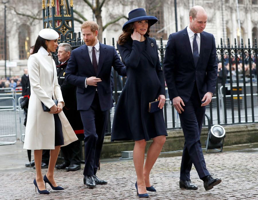 Kate, la duchesse de Cambridge, et Meghan, la duchesse de Sussex, le 12 mars 2018