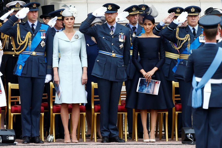 Kate, la duchesse de Cambridge, et Meghan, la duchesse de Sussex, le 10 juillet 2018