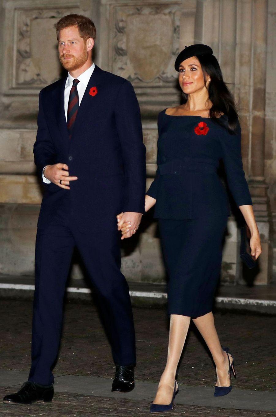 Meghan, la duchesse de Sussex, le 11 novembre 2018