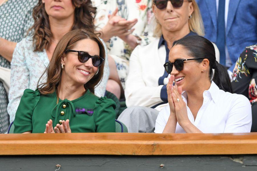 Kate Middleton et Meghan Markle à Wimbledon le 13 juillet 2019