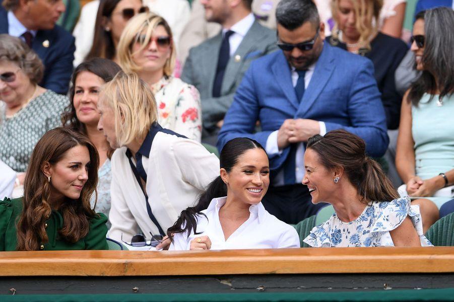 Kate Middleton, Meghan Markle et Pippa Middleton à Wimbledon le 13 juillet 2019