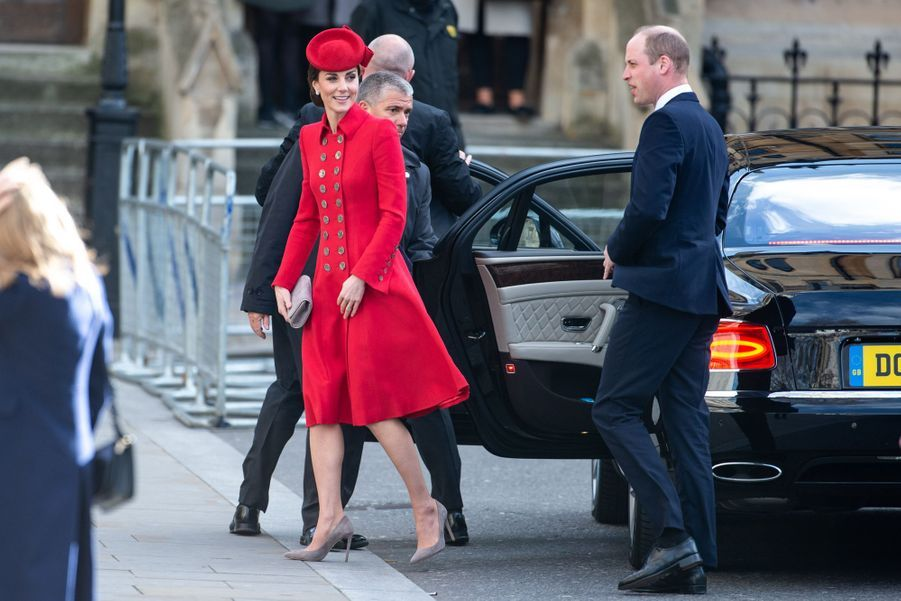 Kate Middleton et le prince William à Londres le 11 mars 2019