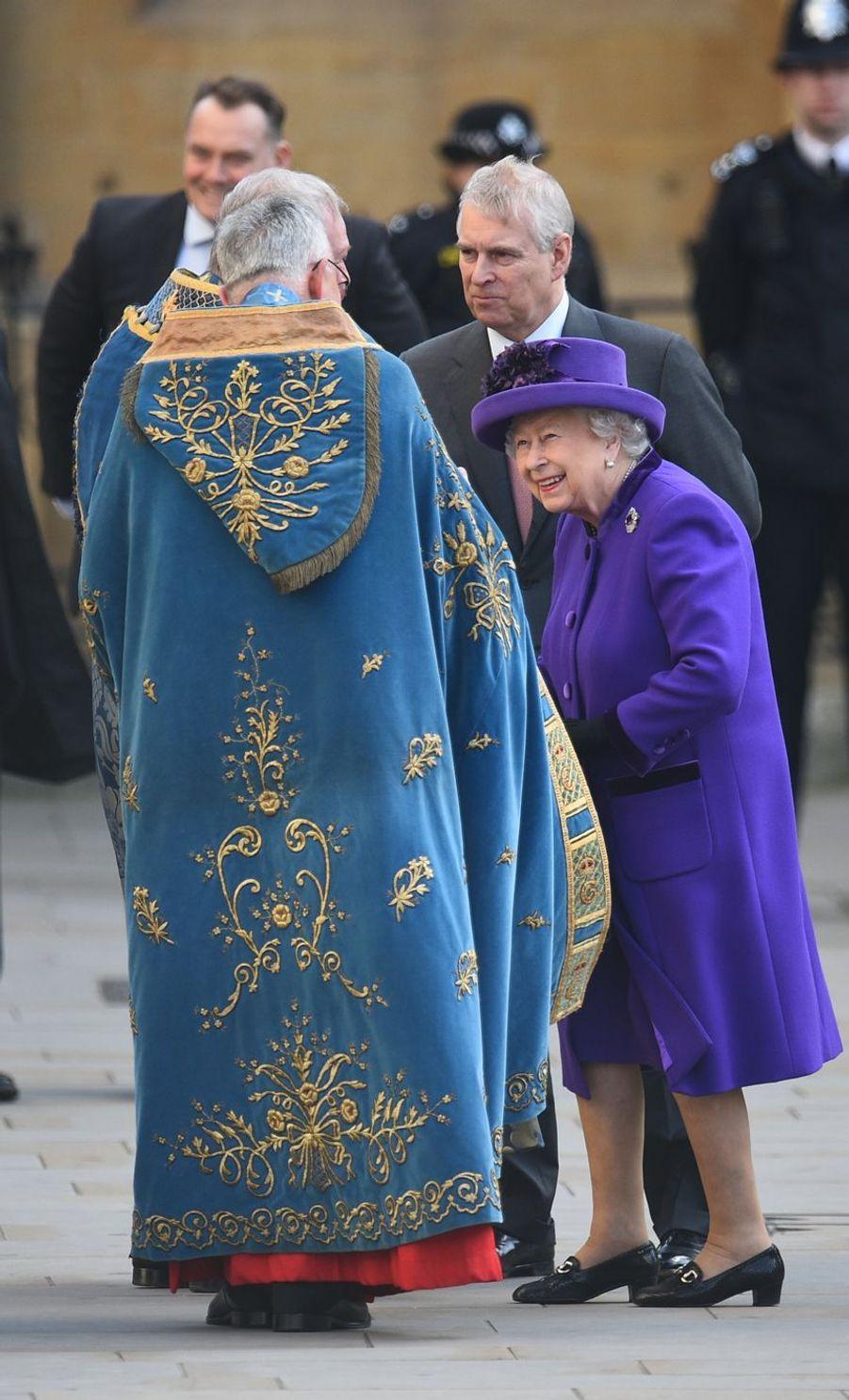 La reine Elizabeth II à Londres le 11 mars 2019