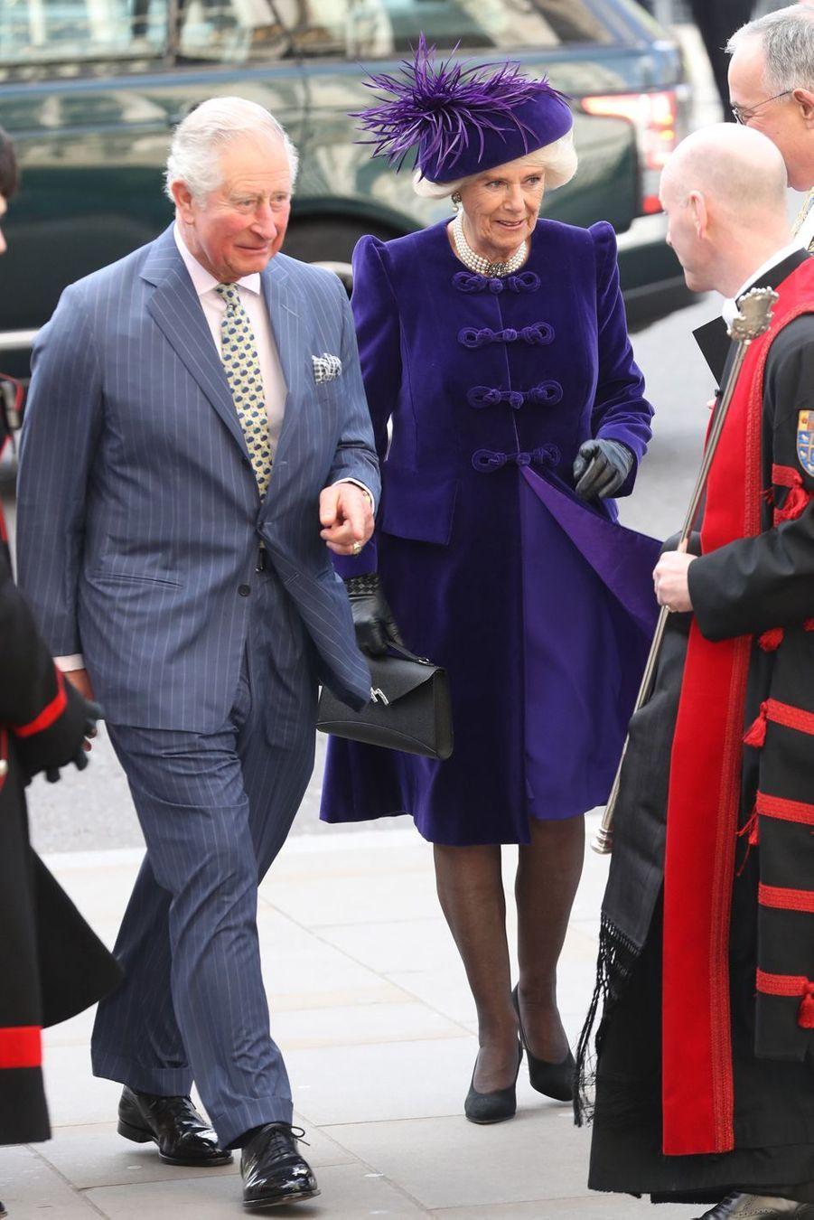 Le prince Charles et son épouse Camillaà Londres le 11 mars 2019