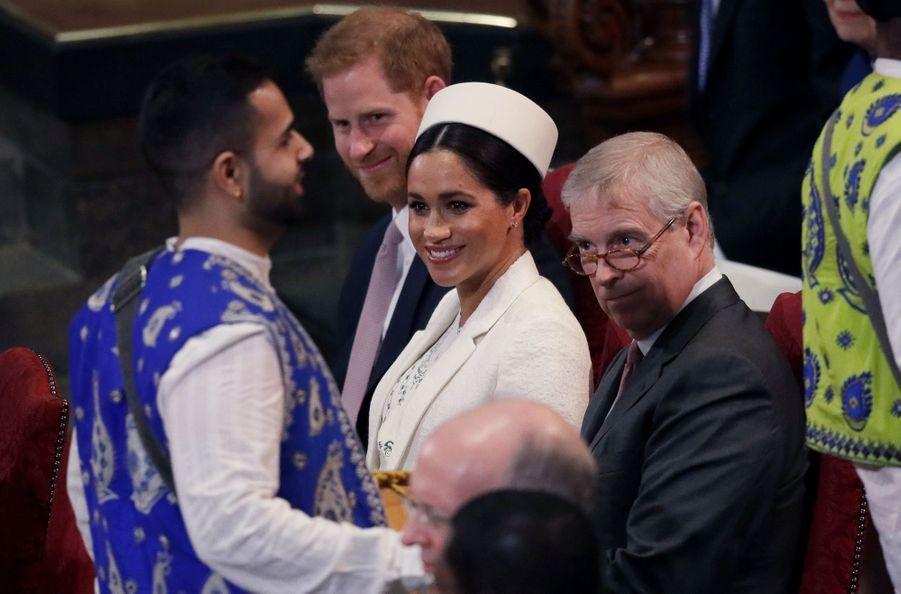 Meghan Markle et le prince Harry au service religieux lors de la journée du Commonwealth à Londres