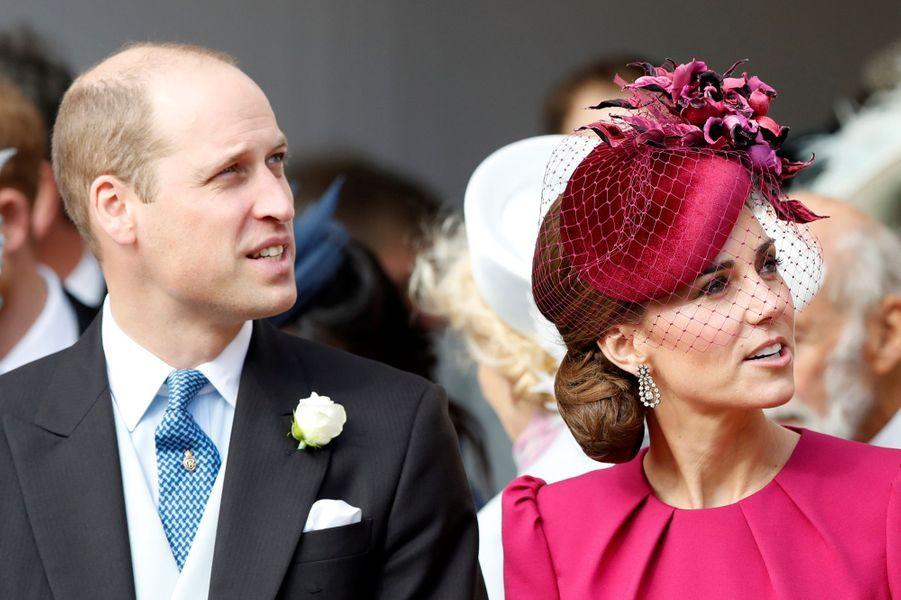 Kate, la duchesse de Cambridge, et le prince William à Windsor, le 12 octobre 2018