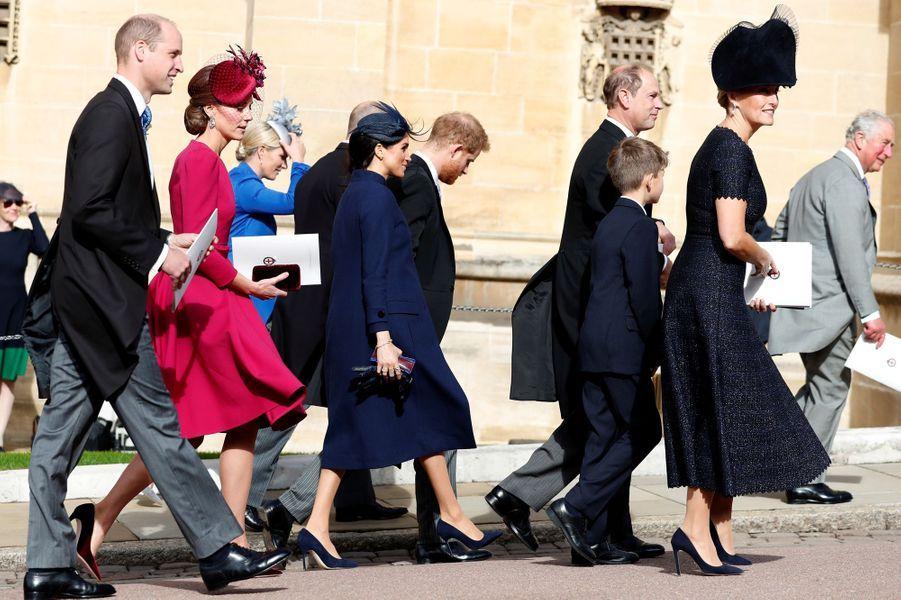 Kate, William, Meghan et Harry à Windsor, le 12 octobre 2018