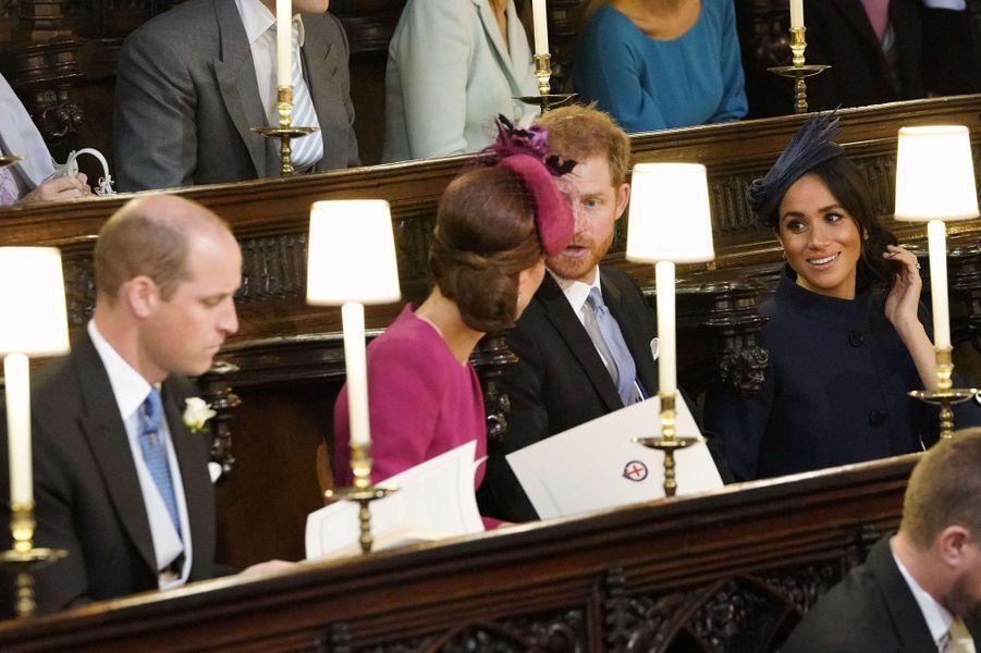 William, Kate, Harry et Meghan à Windsor, le 12 octobre 2018