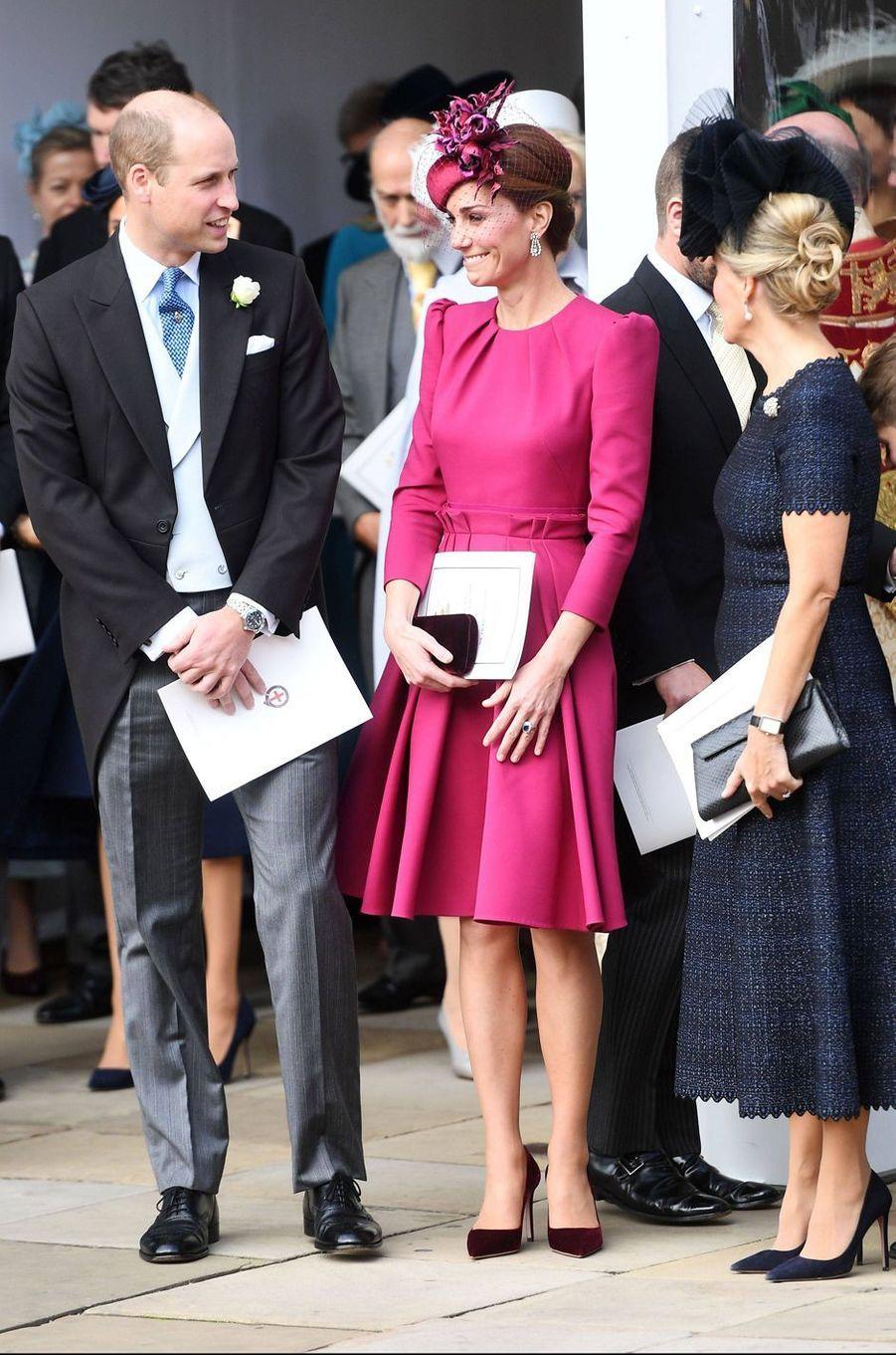Kate, la duchesse de Cambridge, avec le prince William et la comtesse Sophie de Wessex à Windsor, le 12 octobre 2018