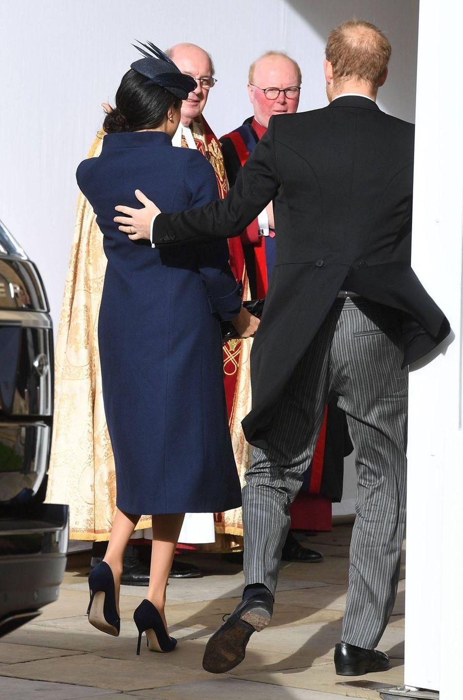 Meghan Markle, la duchesse de Sussex, avec le prince Harry à Windsor, le 12 octobre 2018