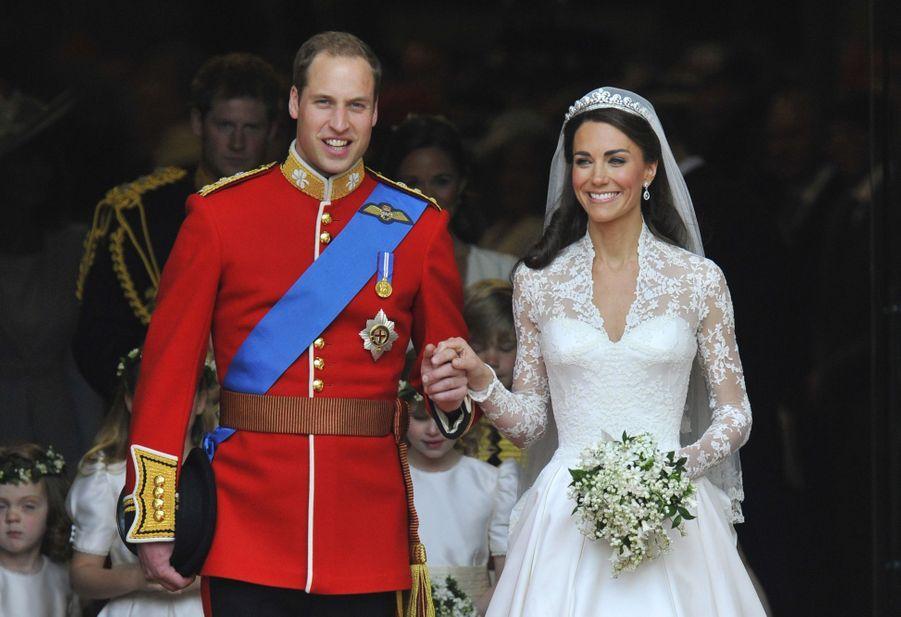 Kate Middleton et le prince William le jour de leur mariage le 29 avril 2011