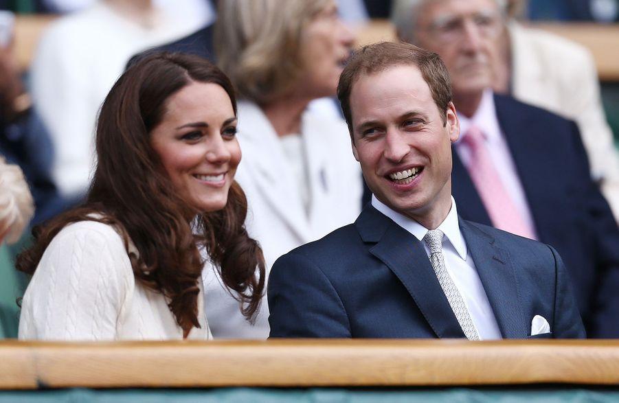 Kate Middleton et le prince William à Wimbledon en juillet 2012