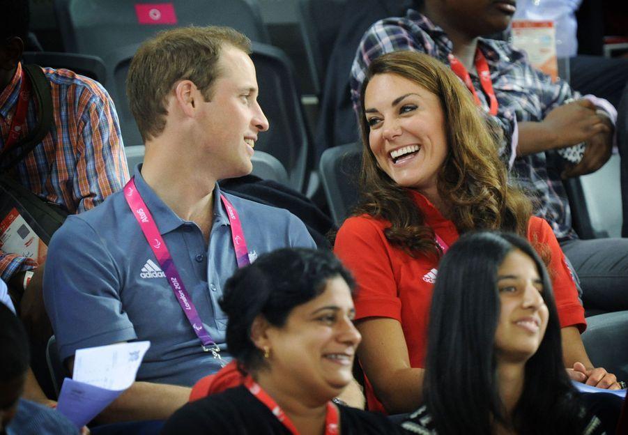 Kate Middleton et le prince William auxJeux paralympiques d'été de 2012 à Londres en août 2012