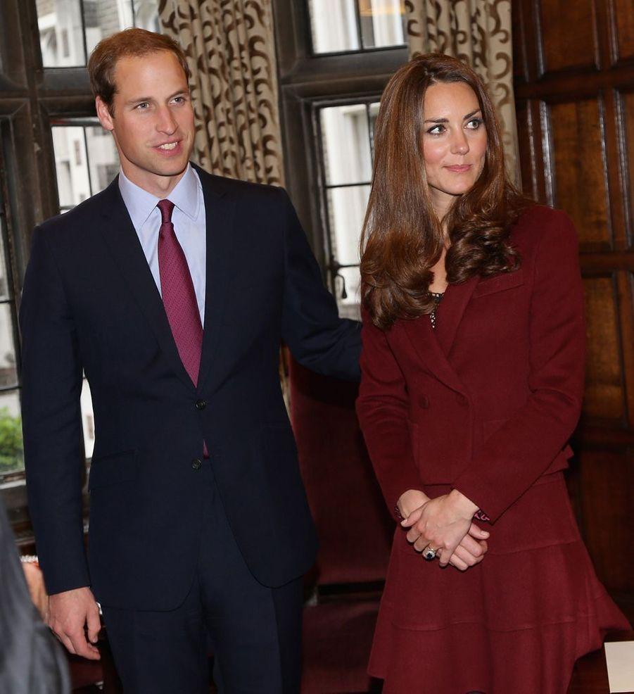 Kate Middleton et le prince William à Londres en octobre 2012