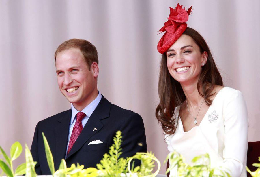 Kate Middleton et le prince William lors de leur visite à Ottawa en juillet 2011