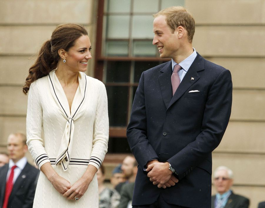 Kate Middleton et le prince William en visite àCharlottetown, au Canada, en juillet 2011