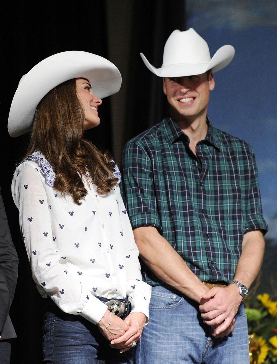 Kate Middleton et le prince William lors de leur visite à Calgary au Canada en juillet 2011